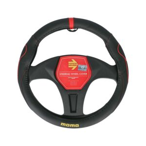 STEERING WHEEL COVERS 014 BLACK/RED MOMO