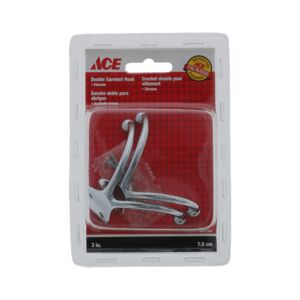 "GARMENT HOOK DOUBLE CHROME 3"" ACE"