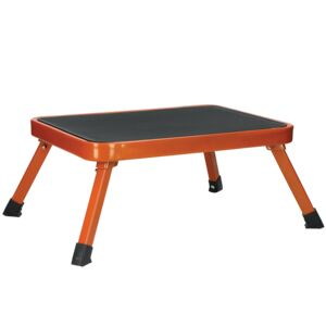 LADDER STOOL 1STEP STEEL ORANGE