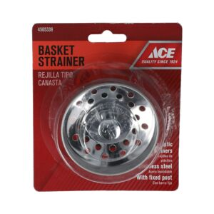 SINK BASKET STRAINER 1PC SS ACE