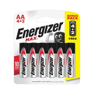Battery size AA 4+2/pack E91BP6 ENERGIZE