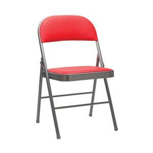 CHAIR FOLDABLE 47X45X78CM BLUorRED