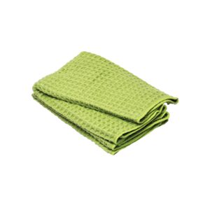 KITCHEN TOWEL 2PC 40X48CM WAFFLE GREEN