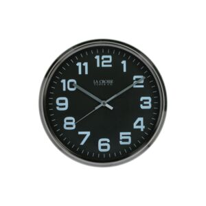 "WALL CLOCK 12"" ROUND METAL CASE"