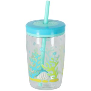 KIDS BOTTLE FLOATING STRAW 15OZ SHARK