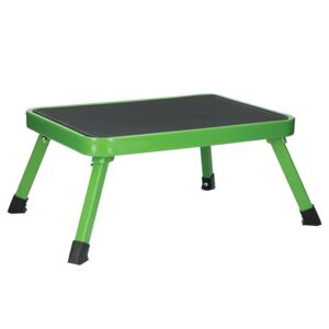 LADDER STOOL 1STEP STEEL GREEN