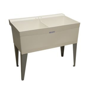 LAUNDRY TUB DOUBLE PLASTIC WHITE