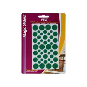 FELT PADS 46/PK ASSORTED SIZE GREEN
