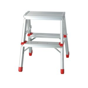 LADDER STOOL 2 STEP  ALUMINUM