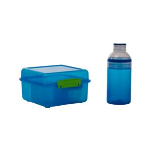 LUNCH BOX W/ 480ML BOTTLE PINK SISTEMA