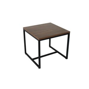 COFFEE TABLE 50X50X45CM SQUARE WLNT&BLK