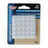 "FELT PAD 3/8"" 75PC ACRYLIC WHITE ACE"