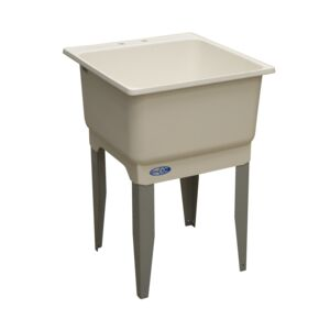 LAUNDRY TUB SINGLE PLASTIC WHITE