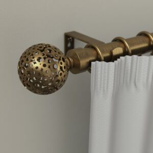 CURTAIN RODS 16/19MM SFERA 120-210 GOLD