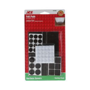 FELT PAD ASSORTED WHITE/BROWN ACE