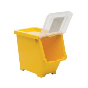 STORAGE BOX 12.5L YELLOW SMALL PLASTIC