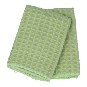 KITCHEN TOWEL 2PC 30X30CM WAFFLE GREEN