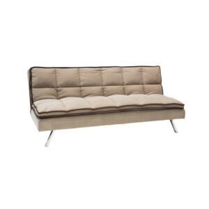 SOFA BED 3SEATER 195X100X82CM BROWN