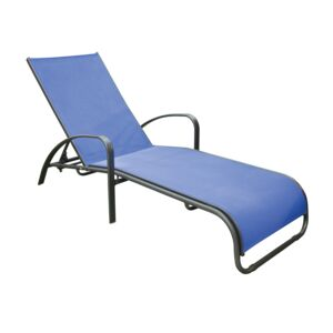 LOUNGE CHAIR 99CM ALUM TEXELENE BLUE