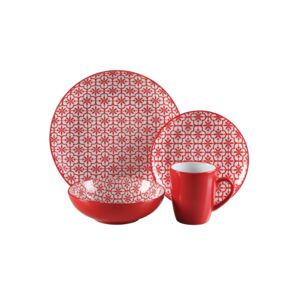 DINNER SET 16PCS MOSAIC CORAL