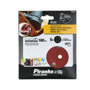SANDER DISC ORBITAL 125MM 180G 5PCS B&D