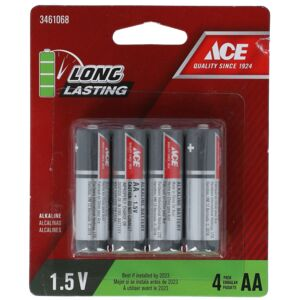 BATTERY ALKALINE AA 4PCS ACE