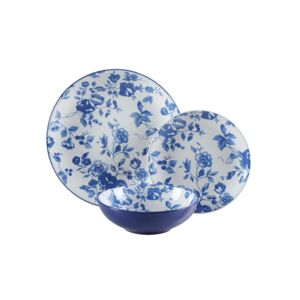 DINNER SET 18PCS LAURA BLUE