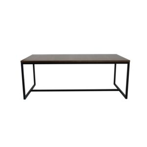COFFEE TABLE 120X60X45CM RECT. WLNT&BLK