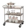 UTILITY CART 3SHELF WHEELED SNGL HNDLD