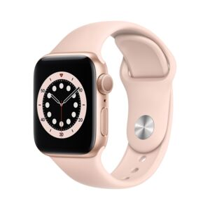 APPLE WATCH S6 44MM GOLD CASE PINK BAND