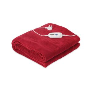 ELECTRIC BLANKET KNG CORAL FLEECE BRGNDY