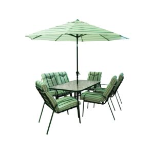DINNING SET 6CHAIR & TABLE&UMBRLA D10240