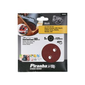 SANDER DISC ORBITAL 125MM 80G 5PCS B&D