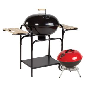 GRILL CHARCOAL W/SIDE SHELF COMBO