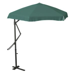 UMBRELLA 2.7M HANGING STEEL FABRIC GREEN