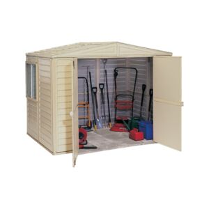 STORAGE SHEDS VINYL  10X8FT. IVORY