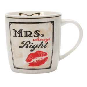MUG 350ML PORCELAIN LIPS HAPPY LIFE