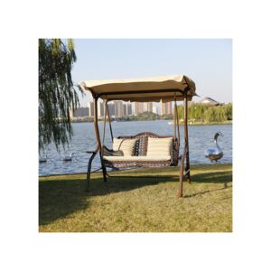 SWING 2PERSON W/CUSHION&PILLOW RATTAN