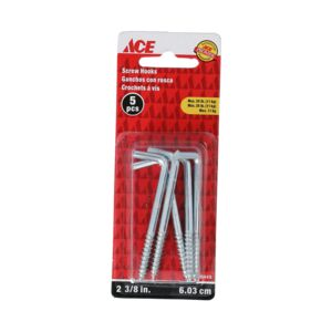 "SQUARE HOOK BEND 2 3/8"" ZINC ACE"