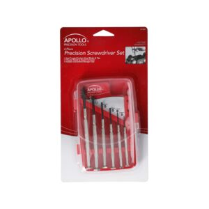 SCREWDRIVER SET 6PCS PRCSN METAL APOLLO