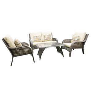 SEATING SET 4PCS 3CHAIR 1COFFEE TABLE
