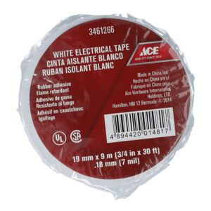 ELECTRICAL TAPE 19MMX9M 0.18MM WHITE ACE