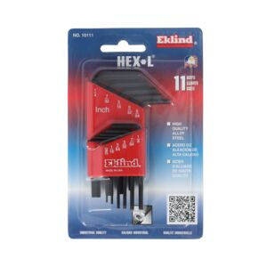 HEX KEY 11PCS SAE SHORT EKLIND