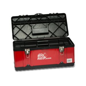 "TOOL BOX 23"" STEEL/PLASTIC BIG RED"