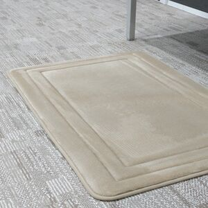BATHMAT 50x81CM FLANNEL FLEECE BEIGE