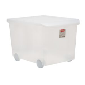 STORAGE BOX 60L WHEELED TRANSPARENT