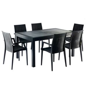 DINING SET 7PCS 6CHAIR 1TABLE
