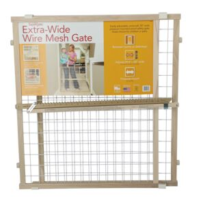 NORTHSTATES WOOD WIRE MESH GATE 32IN GRY