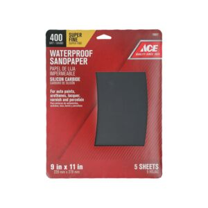 "SANDPAPER 9X11"" S FINE 5/PK CARBIDE"