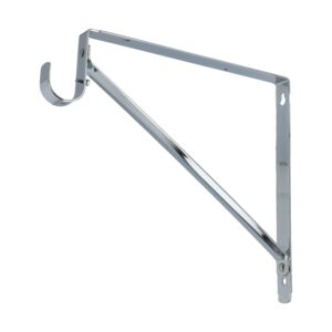 SHELF BRACKET HANG ROD CHROME